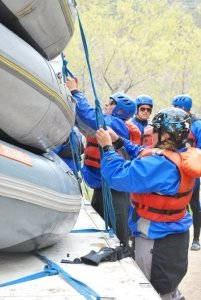 Students spend the week learning every aspect of a river trip.