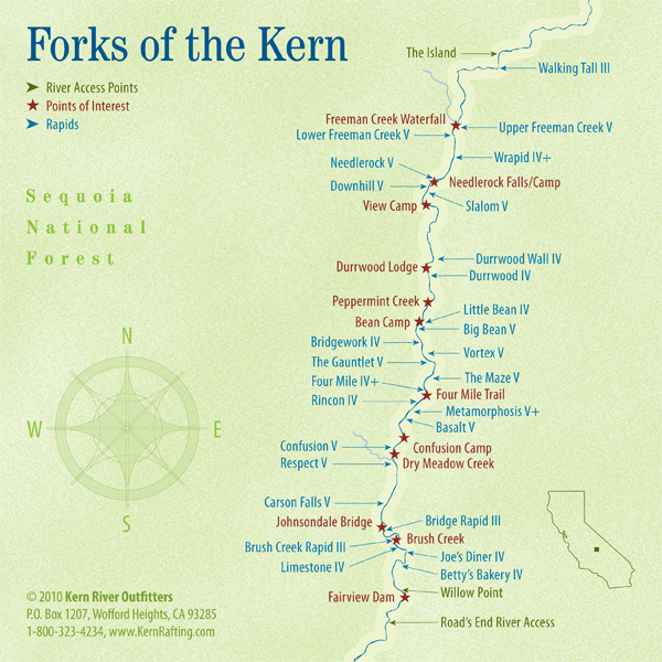 Forks of the Kern map