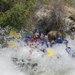 Running the drop at Limestone Rapid, Upper Kern