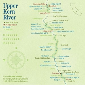 Upper Kern river map