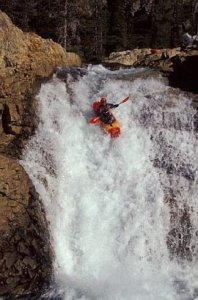 Chris Shackleton running a whitewater